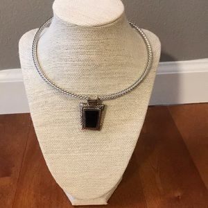 Very Pretty Black and silver statement piece.